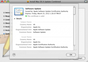 Software Update Certification