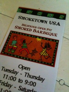 Smoketown USA menu